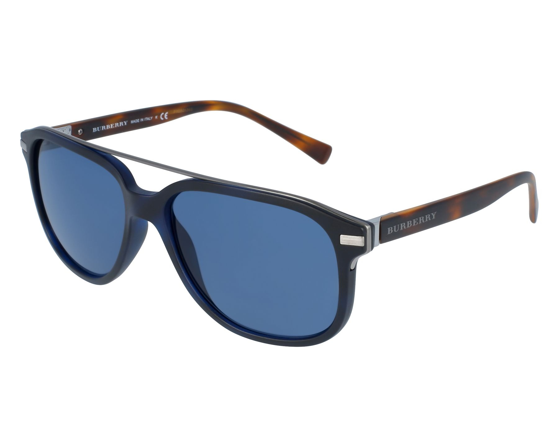 Burberry - Occhiale da Sole Uomo, Blu Matte Havana BE4233 362180 57