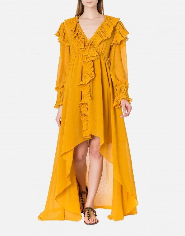 abito in doppio creponne saffron