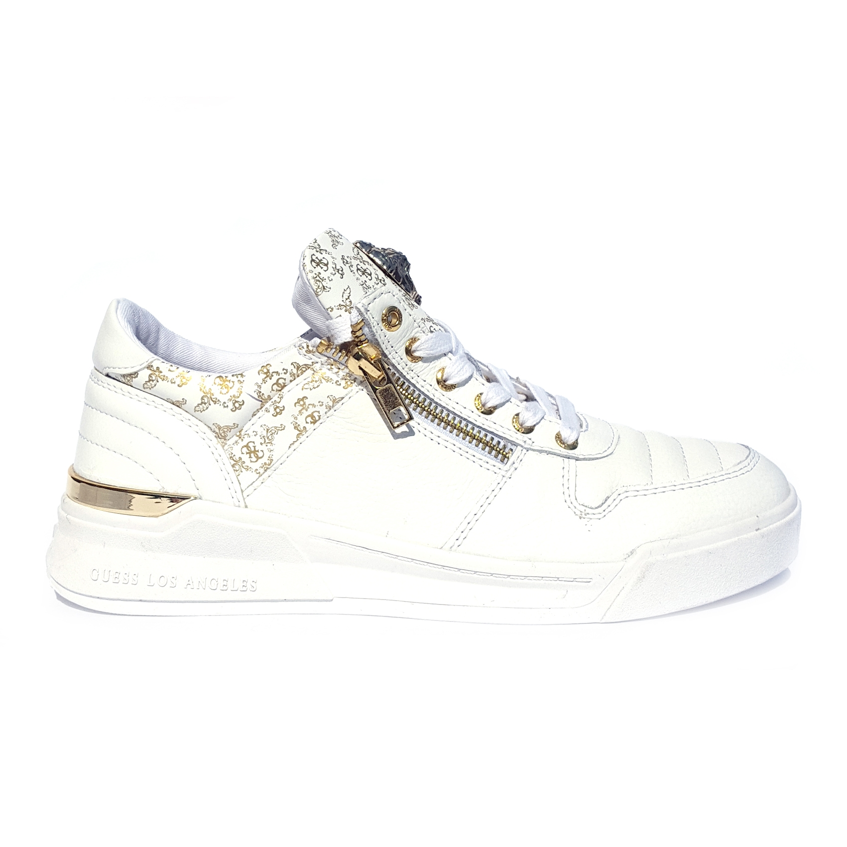 info for 7dfb5 ef632 Sneaker bianca/oro Guess