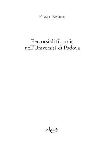 Percorsi di filosofia nell'Università di Padova