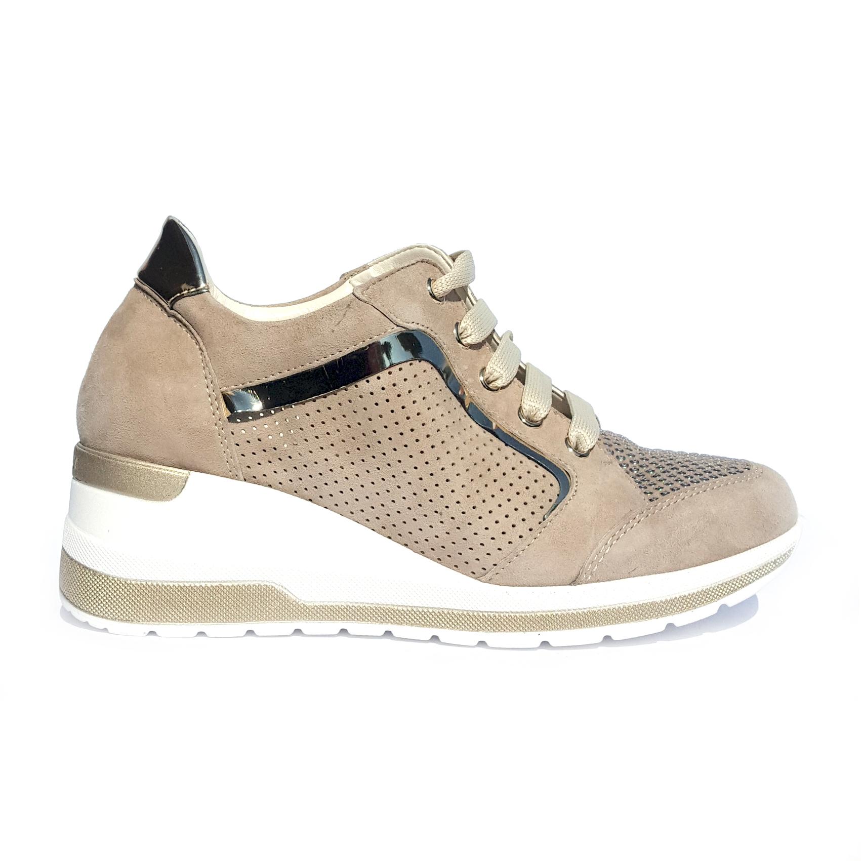 Sneaker corda con zeppa Melluso
