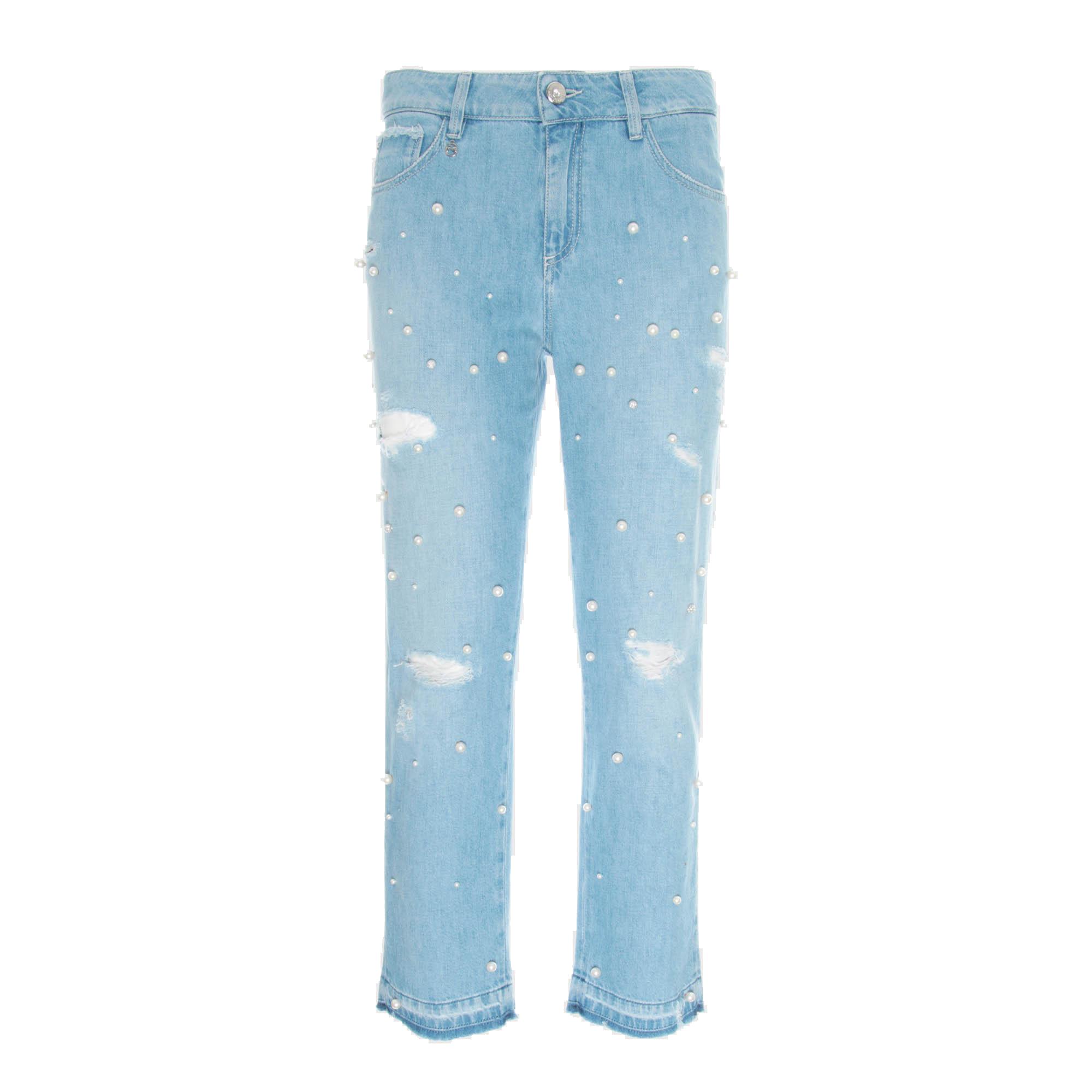 Jeans blu con perle Nero Giardini