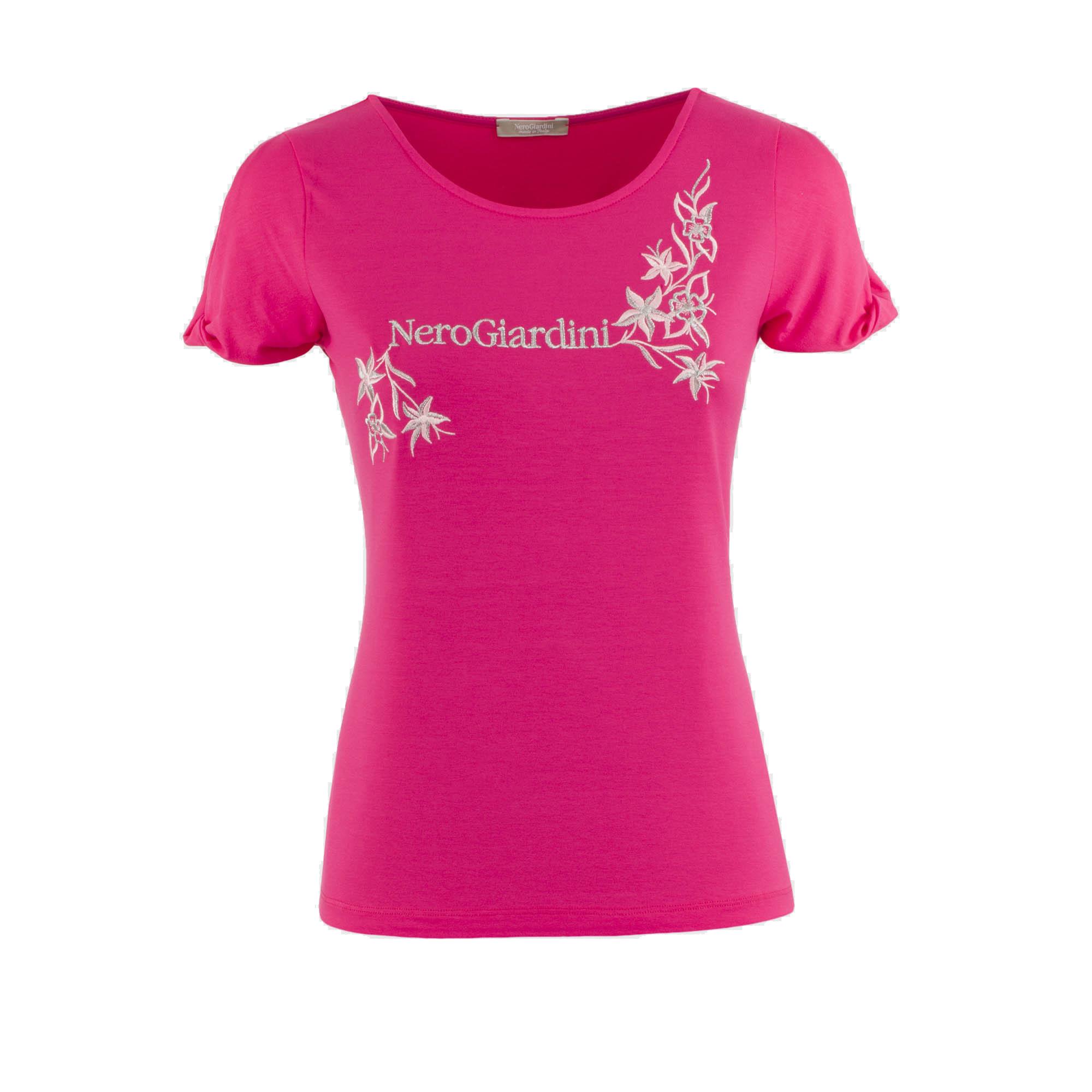 T-shirt fuxia o bianca Nero Giardini