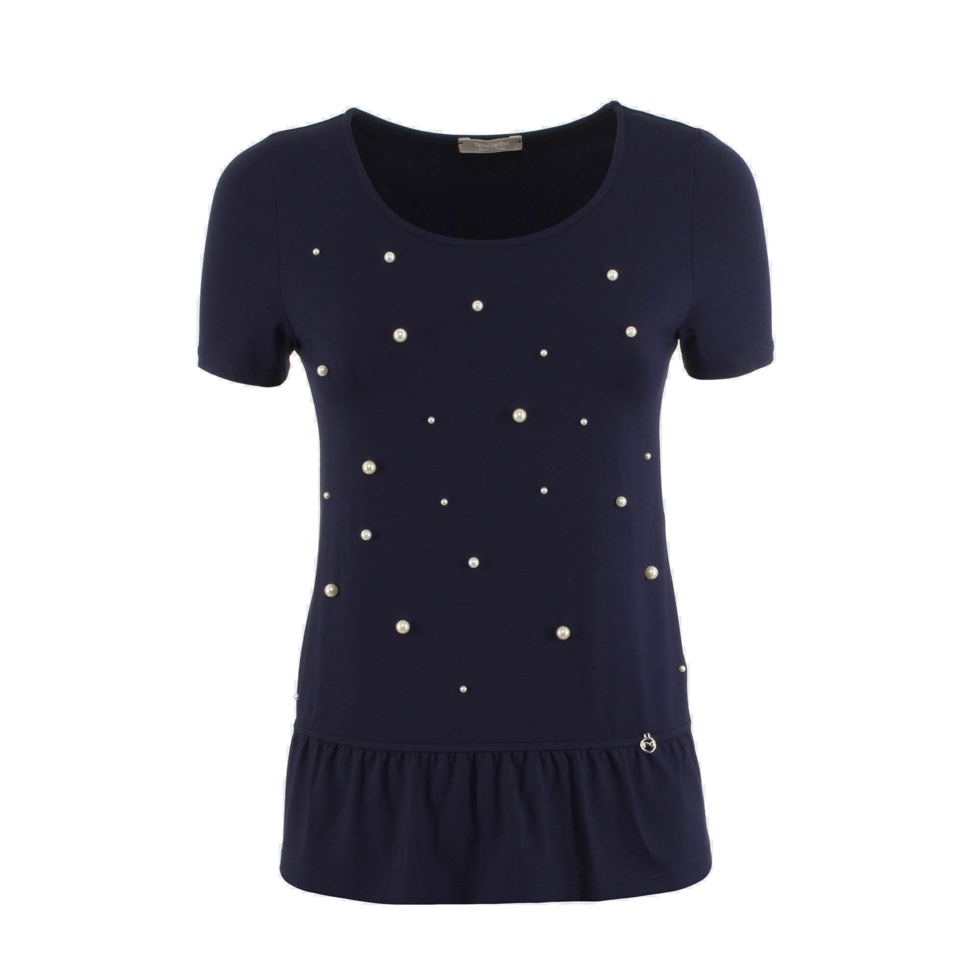 T-shirt blu Nero Giardini