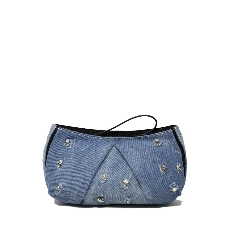 sale retailer d40dc f6436 Pochette in jeans e strass - PINKO