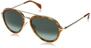 Céline - Occhiale da Sole Uomo, Drop, Light Havana Gold/Grey Green 41374/S 54/17/140