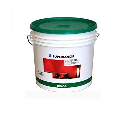 Oikos Supercolor pittura acrilica lavabile traspirante ad effetto licio/opaco 4lt bianca