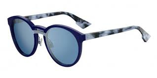 Christian Dior - Occhiale da Sole Donna, Dior Onde 1, Blu (Mattbluee Hvn/Light Blue Grey Speckled Marl) QYI/A4