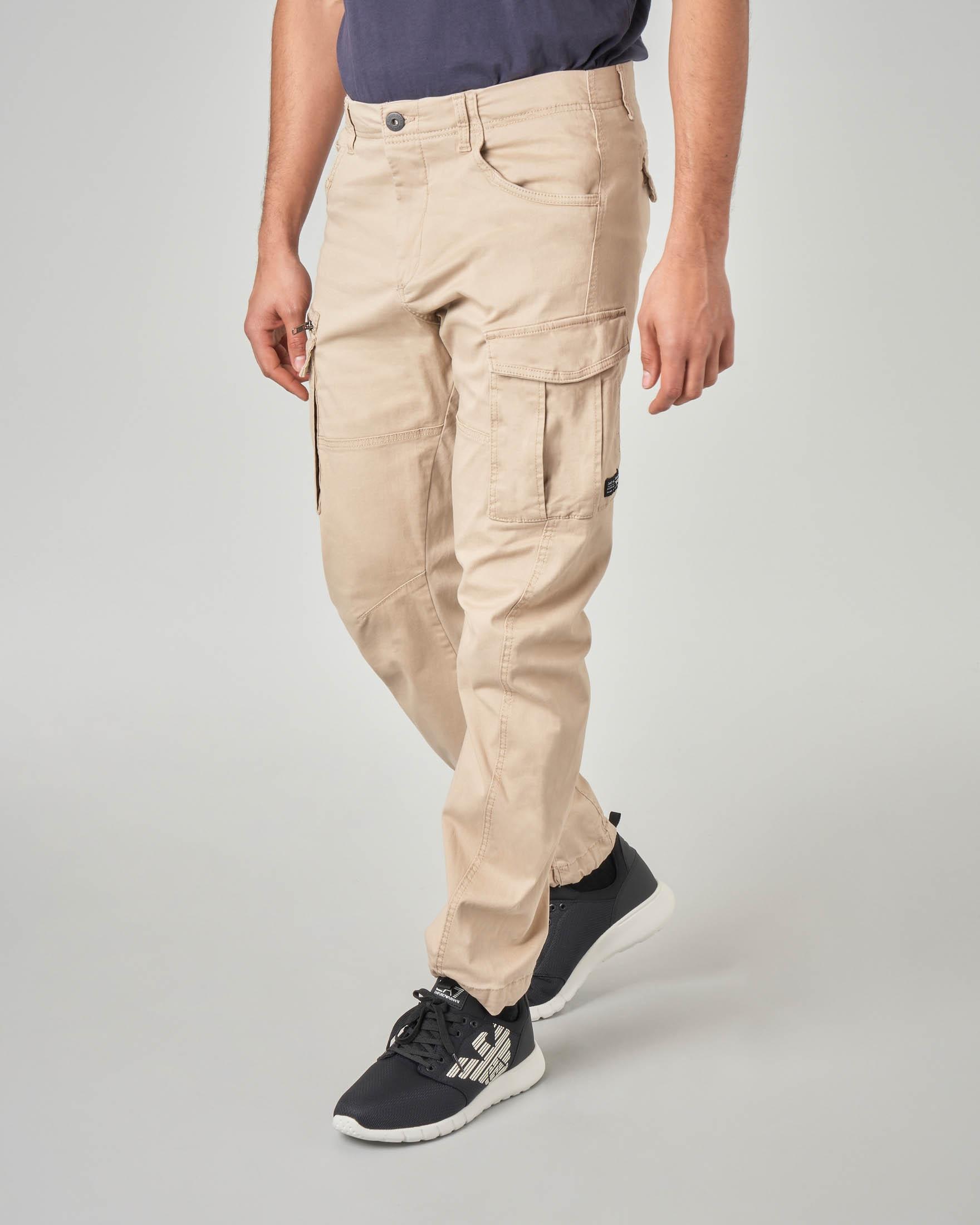 nuovo prodotto e7d0d e5c22 Pantaloni cargo color sabbia