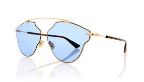 Christian Dior - Occhiale da Sole Unisex, Dior So Real Pop, Copper Gold Dark Havana/Blue DDB