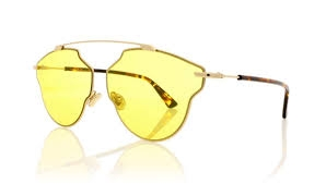 Christian Dior - Occhiale da Sole Unisex, Dior So Real Pop, Copper Gold Dark Havana/Yellow DDB
