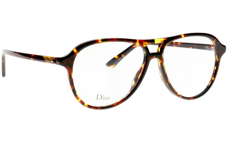 Christian Dior - Occhiale da Vista Donna, Dior Montaigne 52 Brown Yellow Havana P65 54