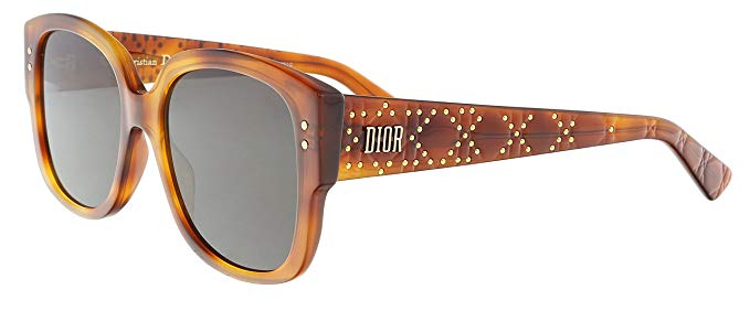 Christian Dior - Occhiale da Sole Donna, Lady Dior Studs, Marrone (Light Havana Grey) SX7/2K