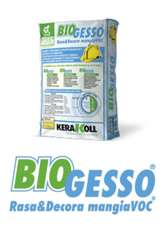 Kerakoll Biogesso rasa&decora kg 15 intonaco base gesso mangia voc