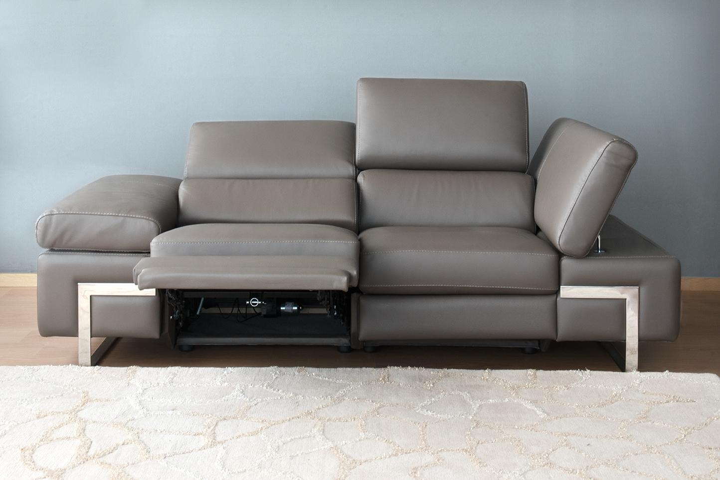 Divani Con Meccanismo Relax divano in pelle - relax elettrici poggiatesta e braccioli
