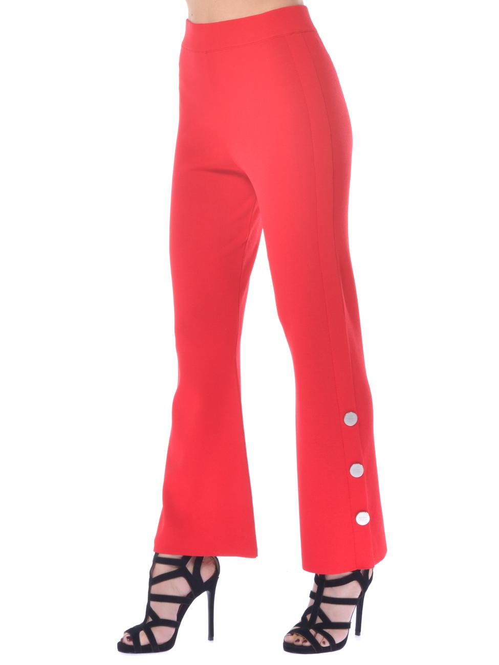 18117f1c73fd ... Pantalone donna Silvian Heach stretch con bottoni rosso. Previous Next