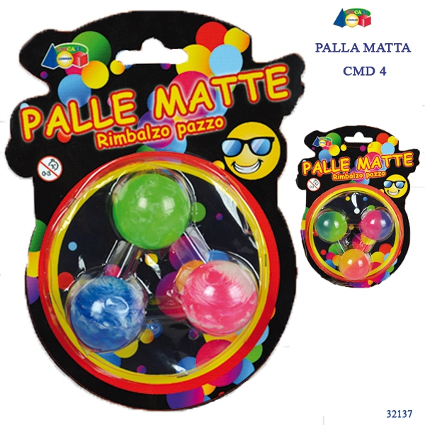SET 3 PALLE MATTE MULTICOLORE ASS. 32137 GINMAR srl