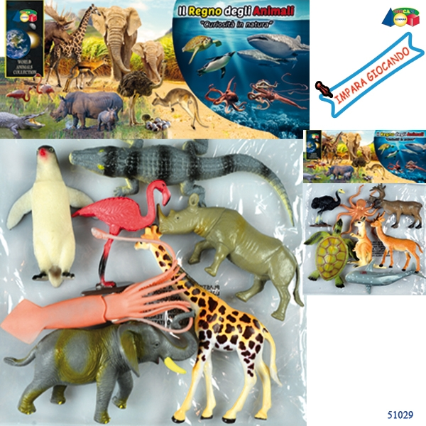 BUSTA ANIMALI CURIOSITA. IN NATURA ASS 51029 GINMAR srl