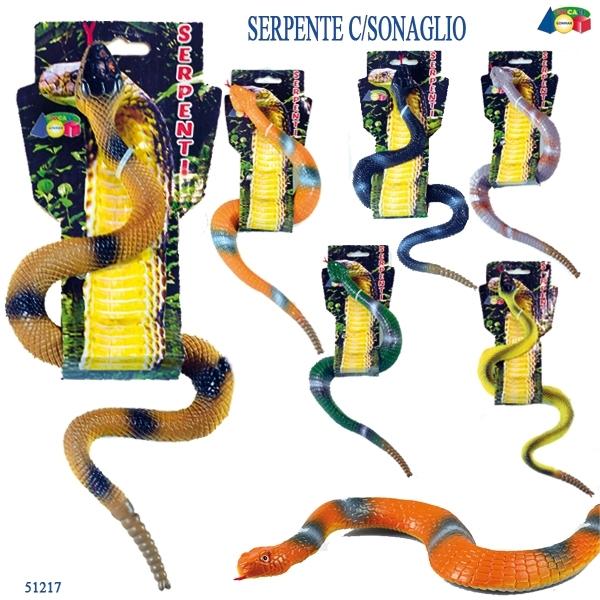 SERPENTE A SONAGLI COL. ASS. SU CARD 51217 GINMAR srl