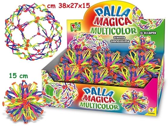 PALLA MAGICA MULTICOLOR 15 CM IN DISPLAY 66060 TEOREMA