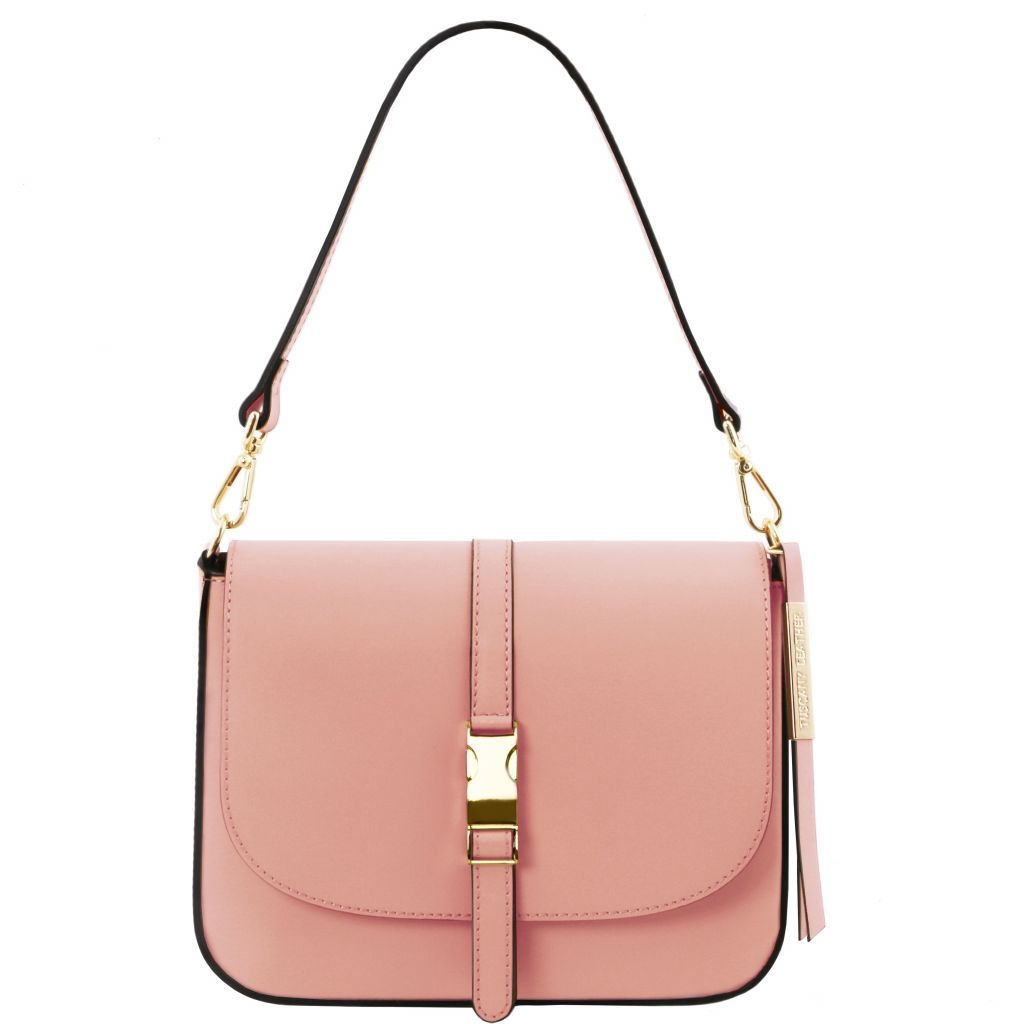 Tuscany Leather TL141598 Nausica - Borsa a tracolla in pelle Ballet Pink