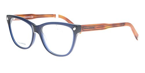 Dsquared2 - Occhiale da Vista Unisex, Dsquared2 DQ, Blue Caramel 5203 C54 020