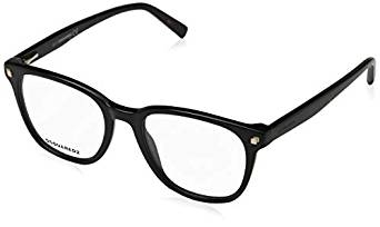 Dsquared2 - Occhiale da Vista Unisex, Dsquared2 DQ, Black 5228 C49 001