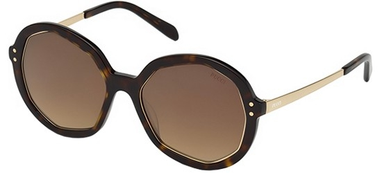 Emilio Pucci - Occhiale da Sole Donna, Dark Havana/Brown Shaded EP0086 52G