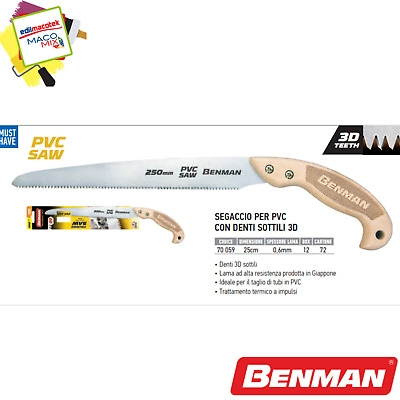 Segaccio sega Benman per PVC da 25cm made in Japan denti sottili 3D