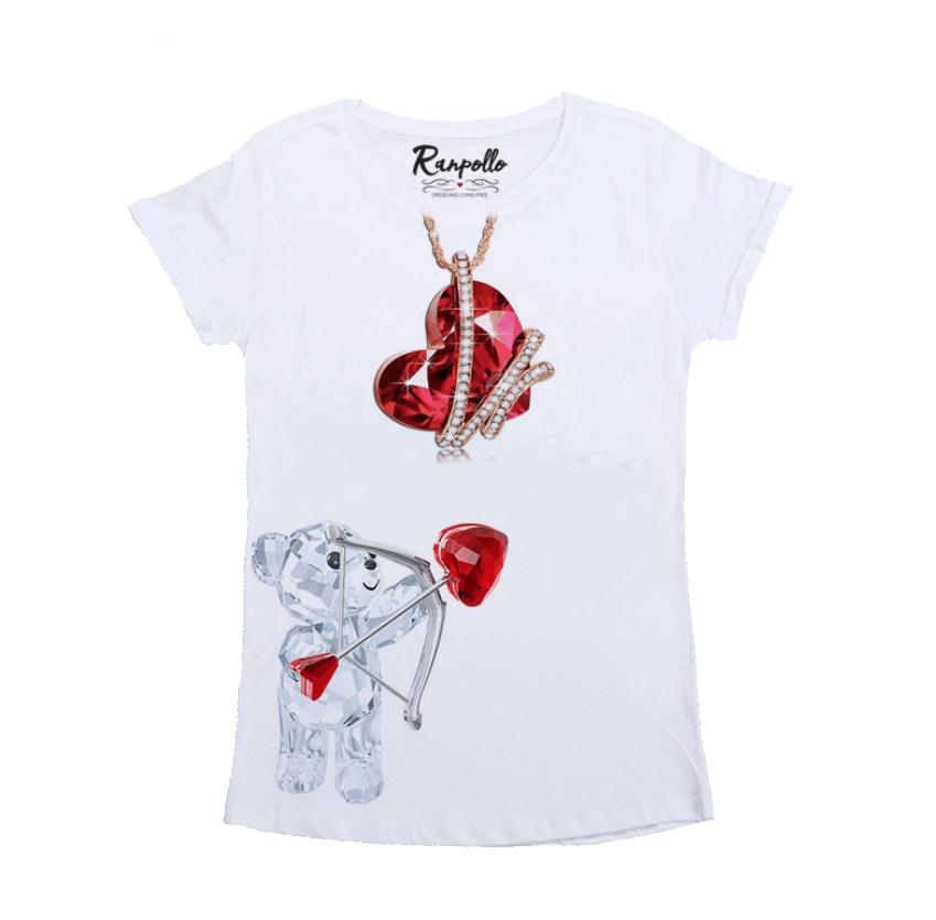 T-shirt Arco Cuore - RANPOLLO