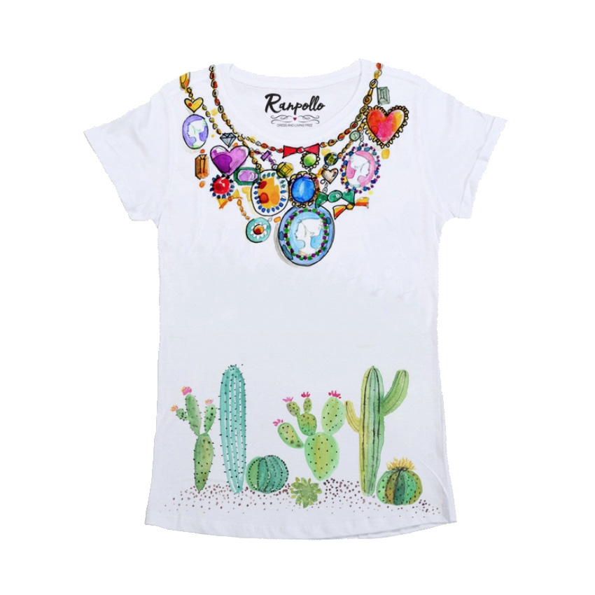 T-shirt Collana Cactus - RANPOLLO