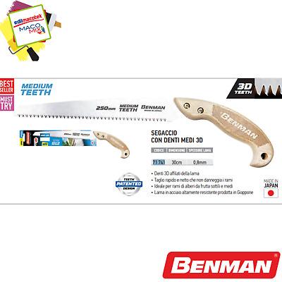 Sega Segaccio per potatura rami medi Benman da 25cm made in Japan denti 3D