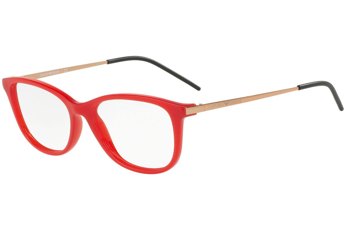 Emporio Armani - Occhiale da Vista Donna, Red/Gold Rubber EA3102 5563 C52