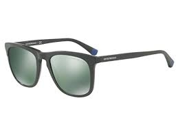 Emporio Armani - Occhiale da Sole Uomo, Matte Green/Petrol Green EA4105 55976R C53