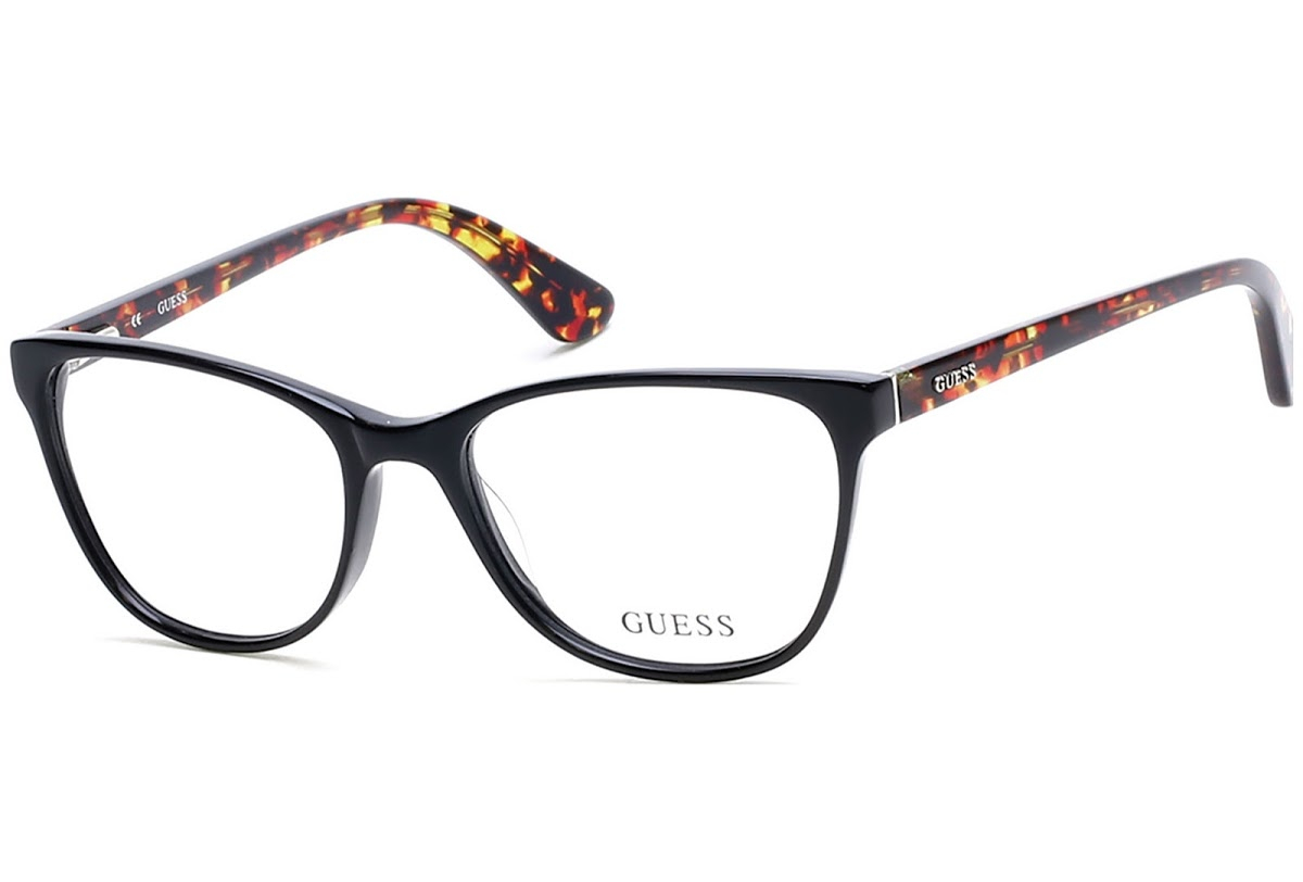 Guess - Occhiale da Vista Donna, Shiny Black GU 2547 001 C53