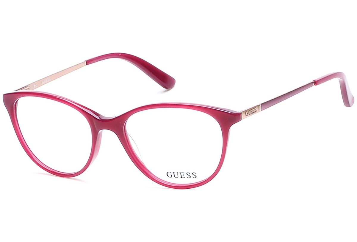 Guess - Occhiale da Vista Donna, Shiny Fuxia GU 2565 075 C52