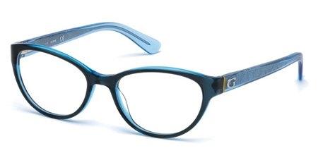 Guess - Occhiale da Vista Donna, Shiny Blue GU 2592 090 C52