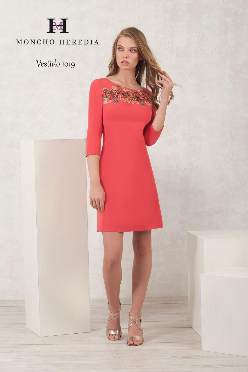 online store abafc f7012 Tubino donna corto cerimonia con manica 3/4 e inserti in pizzo