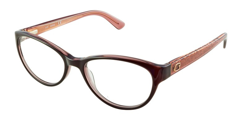 Guess - Occhiale da Vista Donna, Dark Brown GU 2592 048 C52
