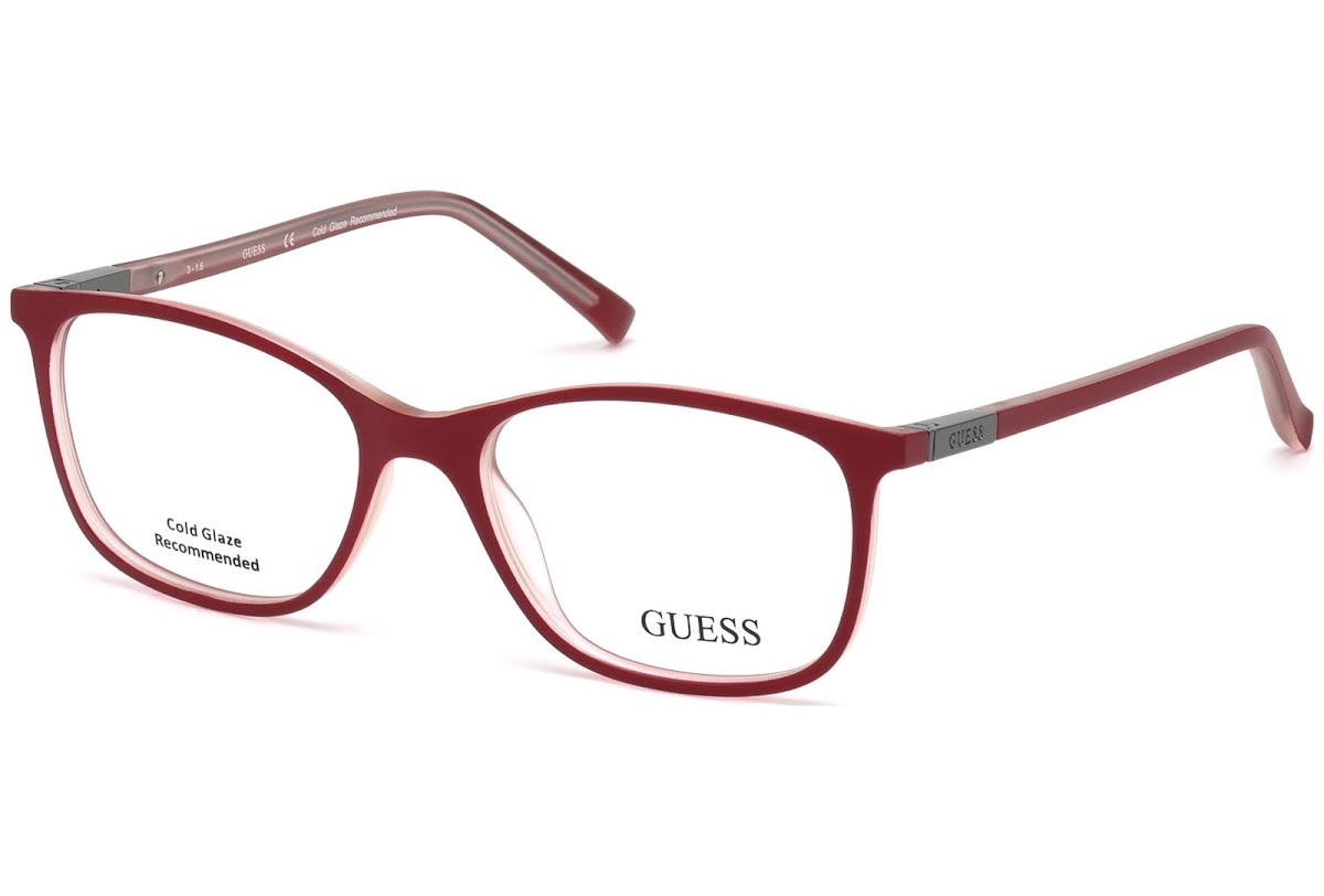 Guess - Occhiale da Vista Unisex, Shiny Red GU 3004 083 C53