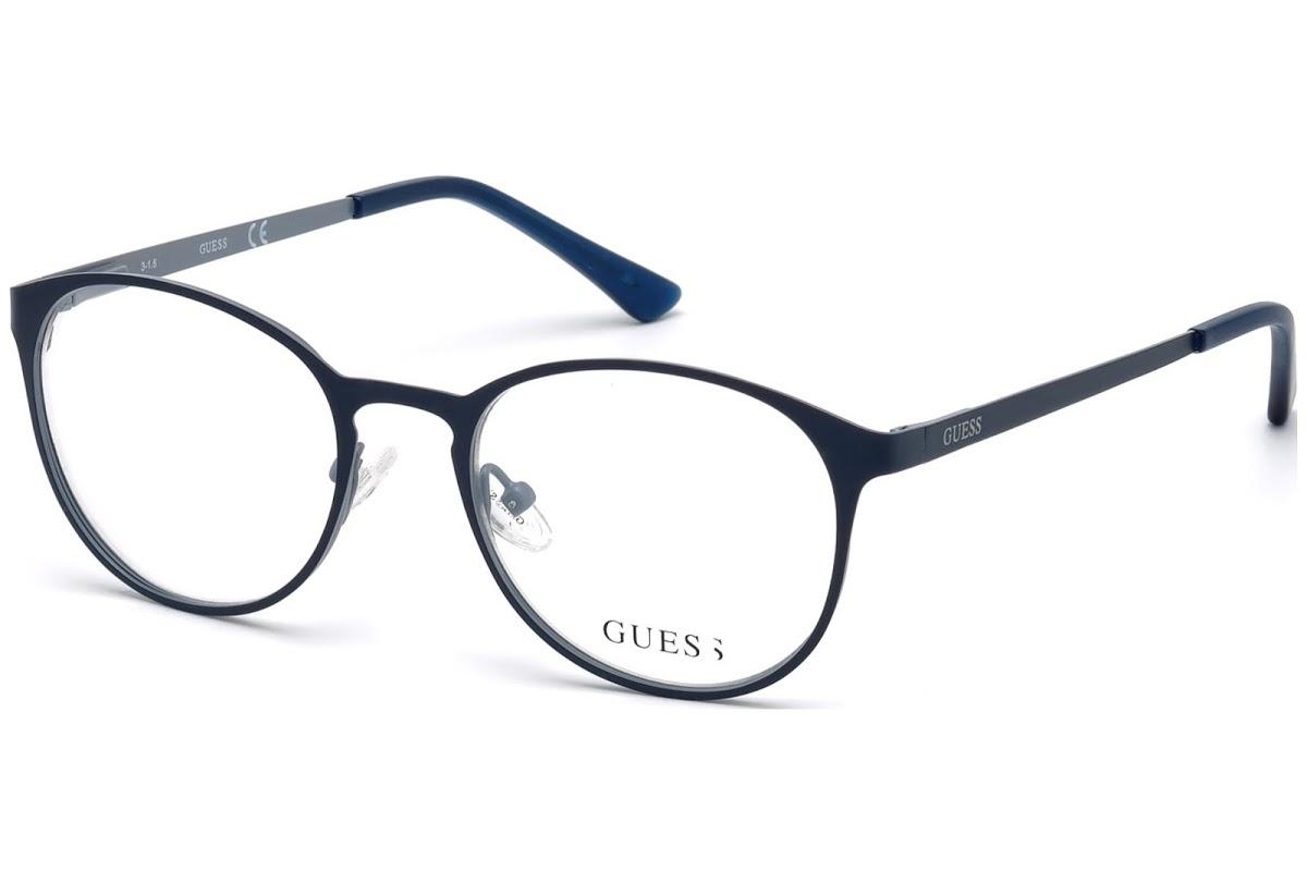 Guess - Occhiale da Vista Unisex, Matte Blue GU 3011 091 C50