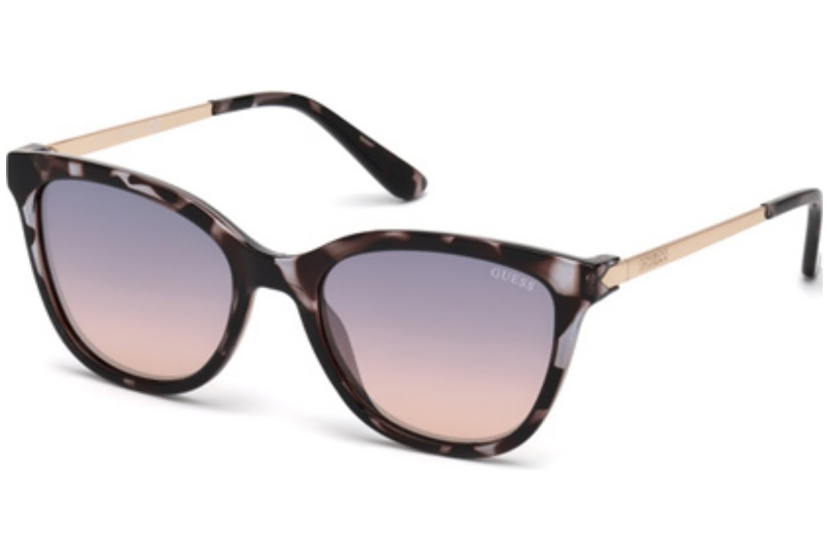 Guess - Occhiale da Sole Donna, Dark Havana/Pink Shaded GU 7567 20W C54