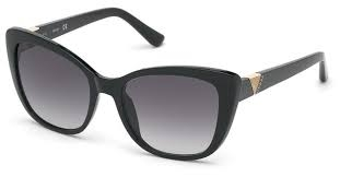 Guess - Occhiale da Sole Donna, Matte Black/Grey Shaded GU 7600 01B C55