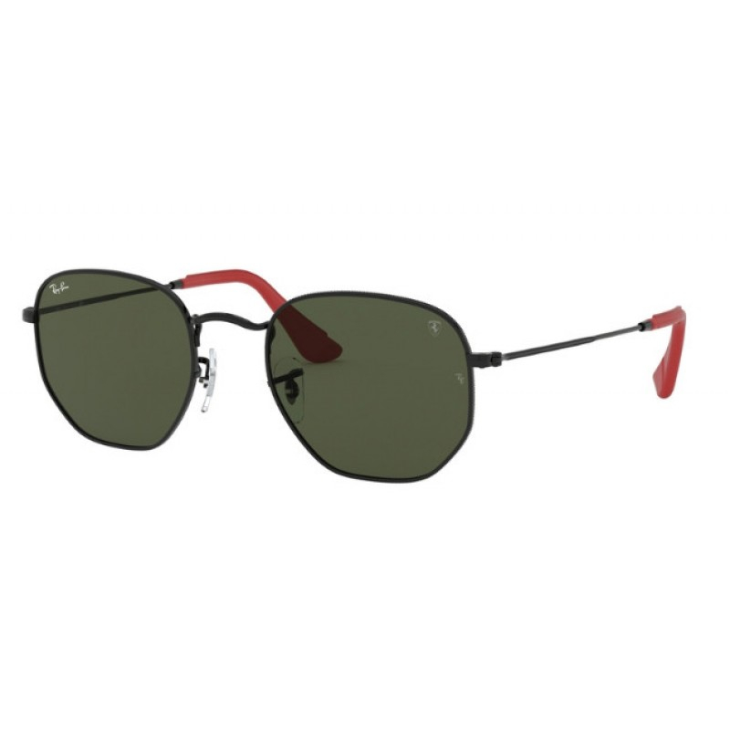 Ray Ban - Occhiale da Sole Unisex, Scuderia Ferrari Collection RB, Black/Green Shaded 3548NM  F00931 C51