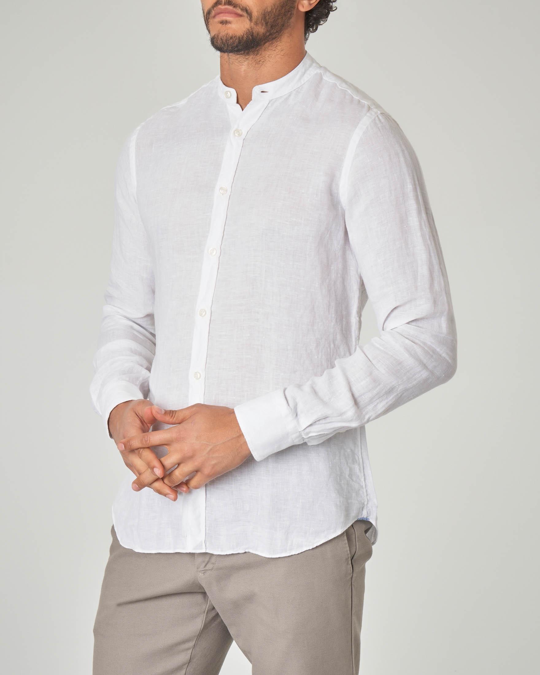best sneakers 9d2b7 8d250 Camicia bianca coreana in lino