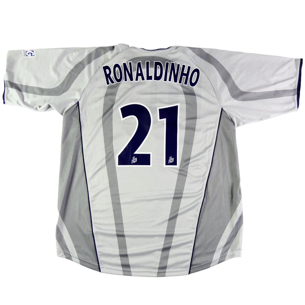 2001-02 PARIS SAINT-GERMAIN maglia #21 Ronaldinho away XXL (Top)