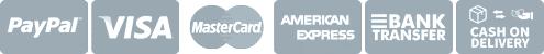 Modalità pagamento: Carta di credito, Paypal, Bonifico bancario