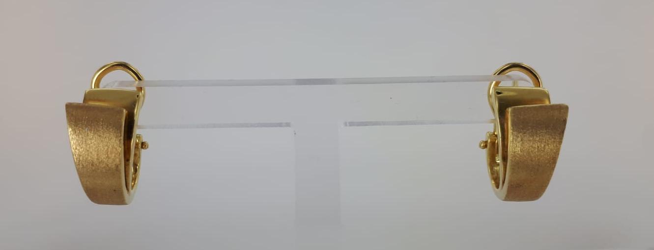 ORECCHINI A LOBO IN ORO GIALLO 11.10 GRAMMI