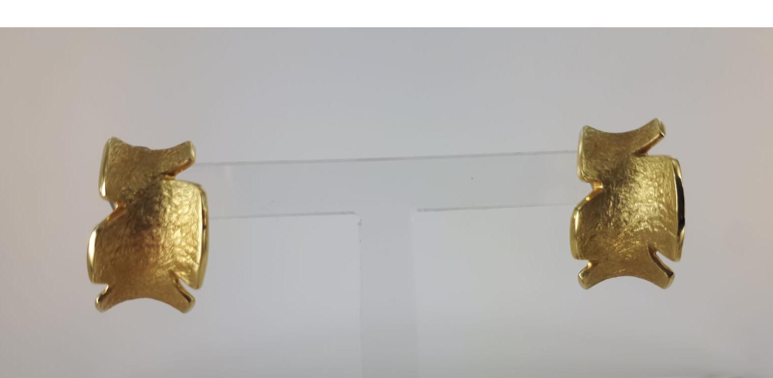 ORECCHINI A LOBO IN ORO GIALLO 18 KT GRAMMI 8.20