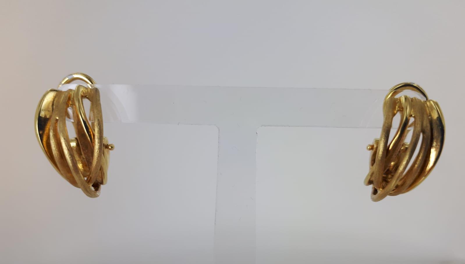 ORECCHINI A LOBO IN ORO GIALLO 18 KT GRAMMI 9.50
